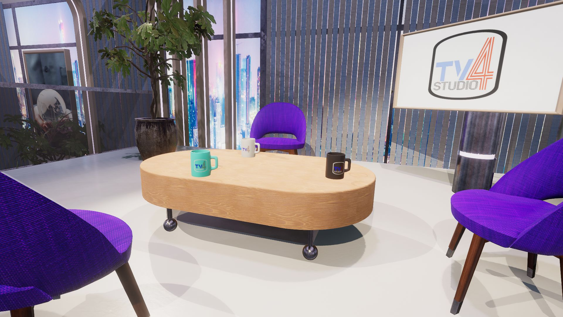 An image showing TV Studio 4. asset pack, created with Unity Engine.