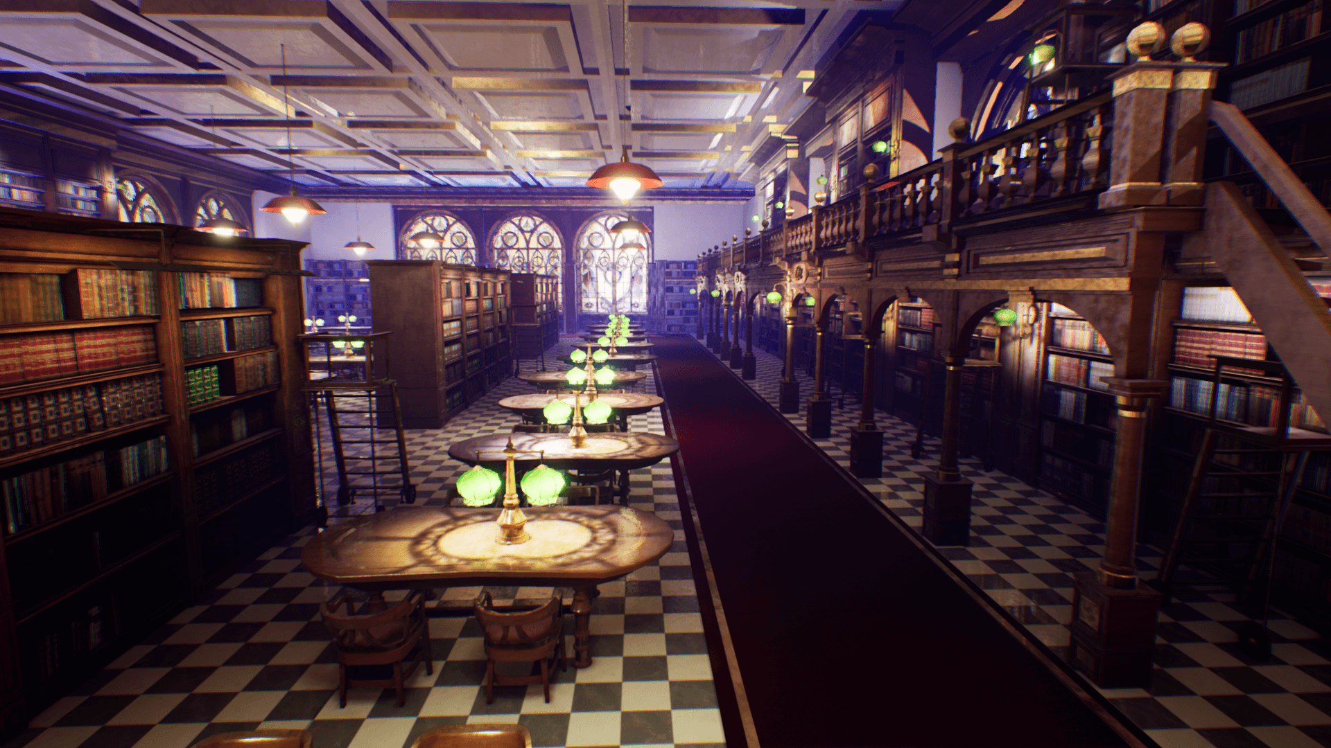 An image showing National Library asset pack, created with Unreal Engine.