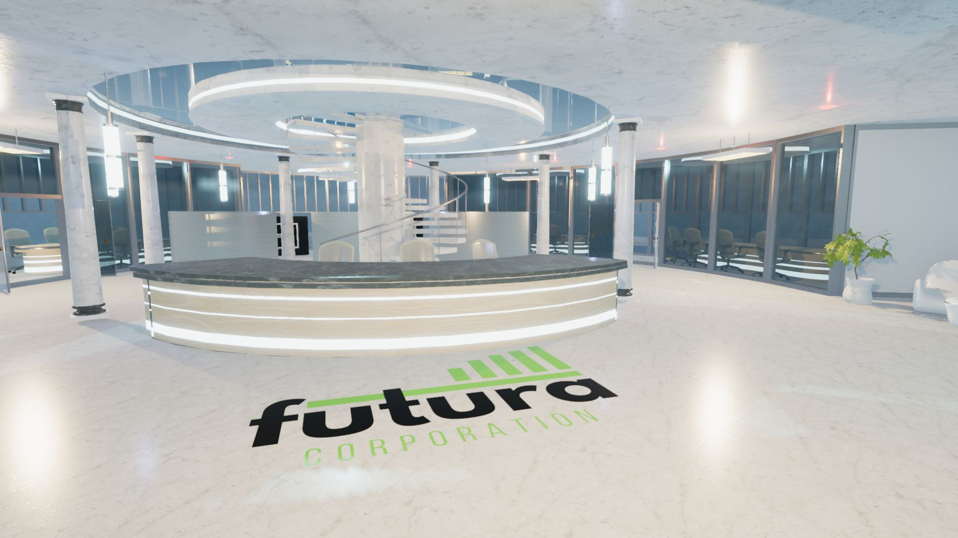 An image showing Corporate Building Futura asset pack, created with Unity Engine.